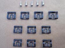 10 NOS WINDOW REVEAL MOLDING CLIPS & 5 SPECIAL SCREWS - MUSTANG TORINO 41-89PW