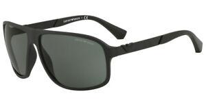 EMPORIO ARMANI Designer Sunglasses EA4029 504271 MATTE BLACK, GREEN LENS