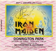 Iron Maiden - MEGARARE + SIGNED Concert Ticket 1988 - Monsters Of Rock Donington