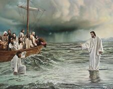 Jesus Walking On Water / Christian 11 x 14 / 11x14 GLOSSY Photo Picture