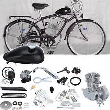 DIY 2 Stroke 50cc Petrol Gas Cycle Bike Engine Motor Kit Bicycle Chrome Pipe