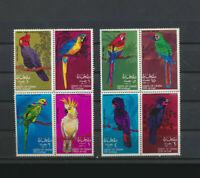 BIRDS Set of 8 Mint Never Hinged OMAN in 2 Se-tenant Blocks