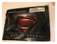 DC COMICS - MAN OF STEEL / SUPERMAN TATTOO & STICKER SET PROMO COLLECTABLE