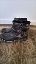 Biker boots Rock rebel distressed rocker style gothic boots conbat boots size 5