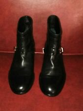 NEW $1150 Christian Dior black  leather strappy ankle boots  L8.5 R8