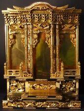 JAPANESE FAMILY BUDDHIST ALTAR BUTSUDAN GOLD LEAF GILT PALACE