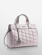 NWT Calvin Klein Kora Tea Berry Quilted Satchel  Handbag
