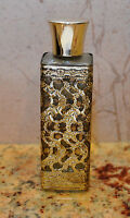 """Gilded Ormolu Filigree Perfume 4.7"""" tall Bottle with Golden Cover"""