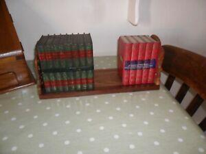 Vintage Wooden Extending Book Slide / Trough ( Carved Ends)