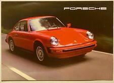 MINT ORIGINAL! 1977 Porsche 911S  Turbo Carrera (930) Sales Brochure Folder