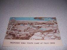 1950s PROPOSED WMU YOUTH CAMP at FALLS CREEK DAVIS OKLAHOMA VTG POSTCARD