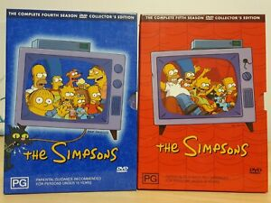 THE SIMPSONS - THE COMPLETE FIFTH SEASON  & FOURTH SEASON (Season 5, Season 4)