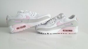Womens Nike Air Max 90 White Pink Foam CZ0371-100 Running Shoes Size us 8