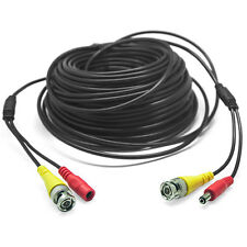 20M 66FT CCTV Camera DVR Video DC Power Surveillance BNC RCA Cable Monitor Wires
