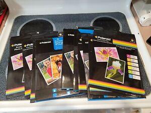 (12 Packs) Polaroid Premium Gloss Photo Paper 8.5x11 8 Sheets For Inkjet Printer