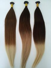 "Ombre 18"" Pre-Bond Remy I-Tip Human Hair Extensions 2 Ounce Bundle Color #4/16"