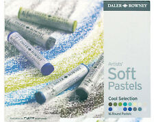 Daler Rowney Soft Chalk Pastel Set - 16 Cool Shades