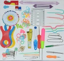 Knit/Crochet/Stitch Accessories Kit,Craft Set Basic Case,23 Items,Cutter/Markers