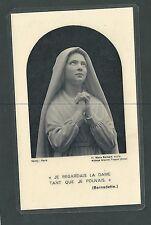 Estampa antigua de Santa Bernardet andachtsbild santino holy card santini
