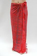 NEW PREMIUM QUALITY RED SARONG PAREO BEACH POOL WRAP SWIM COVER BNIP / sa333P