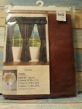 Vintage jc penney Curtains NIP Chintz Colette 5 piece set Burgundy