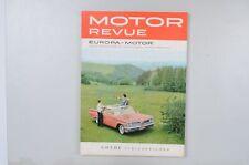 Motor Revue Europa Motor Ausgabe 39 Herbstausgabe 1961
