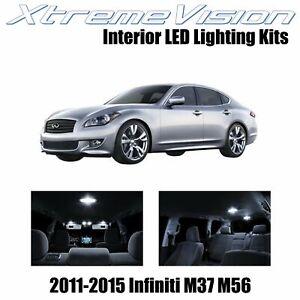 XtremeVision Interior LED for Infiniti M37 M56 2011-2015 (10 PCS) Pure White