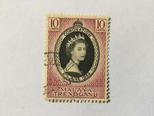 1953 Malaya Malaysia Trengganu  10c Coronation