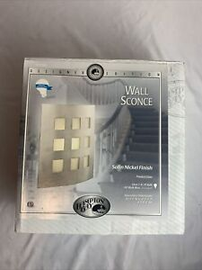 Hampton Bay Wall Sconce One Light Satin Nickel Finish Used Tested And Complete