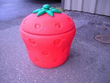 Huge Strawberry Toy Box Storage Little Tikes Shortcake1980's  Cooler or Hamper