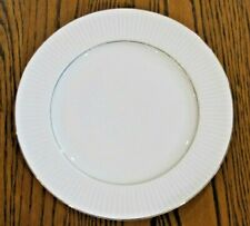 Vintage Gibson China Replacement Black Tie Dinner Plate with Gold Edge & Rim
