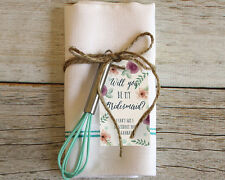"""12 """"Will You Be My Bridesmaid?"""" Personalized Floral Gift Tag Tags Set Q37907"""