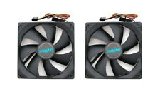 2 x Maplin 1200RPM 120mm 12cm Black Fans Cooler Fan Case PC Computer 3 + 4 Pin