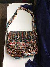 "English Carpet Bag Large Shoulder Travel Bag Overall 34 "" Long  2 Compartments"