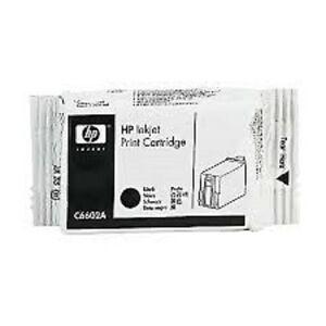 FACTORY SEALED FOIL WRAPPER HP C6602A -BLACK THERMAL INK CARTRIDGE