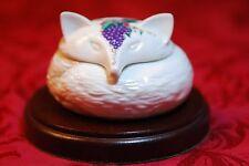Elizabeth Arden Southern Heirlooms White Porcelain Fox Trinket Box Jar Vintage