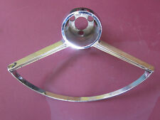 1963 63 PONTIAC TEMPEST 4 & 8, DeLuxe STEERING WHEEL HORN RING CHROME TRIM NOS