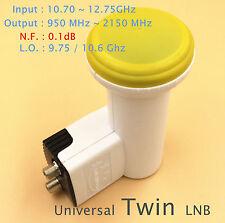 Dual Twin Double Standard Ku Band FTA LNB 0.1 dB LNBF Dish HD ready Two Output
