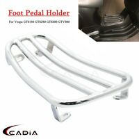 Chrome Luggage Rack Scooter Foot Pedal Holder Bracket FOR VESPA GTS250 GTS300