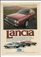 Red LANCIA Coupe Automobile 1977 Print Ad ~ Intelligent Alternative