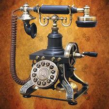 AUTHENTIC FUNCTIONAL STEAMPUNK CRANK TELEPHONE MUSEUM REPLICA