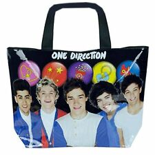 One Direction Tote Bag Buttons Large Reusable Shopping Handbag
