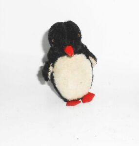 Cute Small Plush Penguin Vintage Glass Eyes 8 CM 1930er