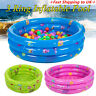 3 Ring Inflatable Paddling Pool Children Kids Swimming Pool Outdoor Garden Play