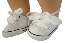 White Canvas Sneakers Shoes for Bitty Baby Doll Clothes Sew Beautiful
