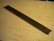 4 Anciennes barres ou tringles en laiton pour tapis d'escalier