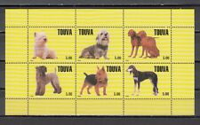 Touva, 1999 Russian Local. Dogs on Yellow sheet of 6.