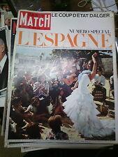 Paris Match n°846 26 juin 1965 n° spécial l'Espagne corrida coup d'état alger