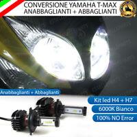 H4 YAMAHA TMAX T MAX 500 ANNO 2005 ABBAGLIANTE KIT LED SMD H7 ANABBAGLIANTE