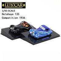 LUXCAR  1/43 Delahaye 135 Competition 1936 Resin Black Blue Car Model Display